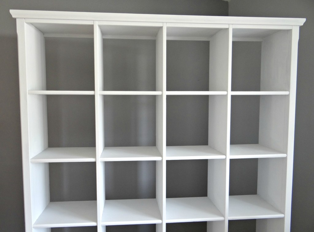 Repainting bookcase with white chalk paint 2