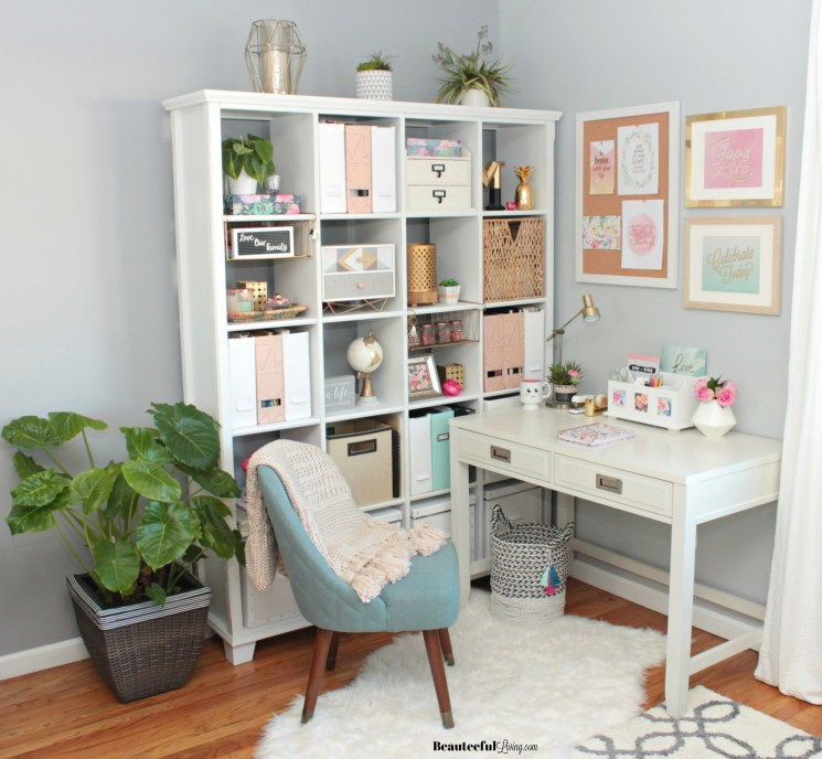 Glam Home Office Nook - Beauteeful Living