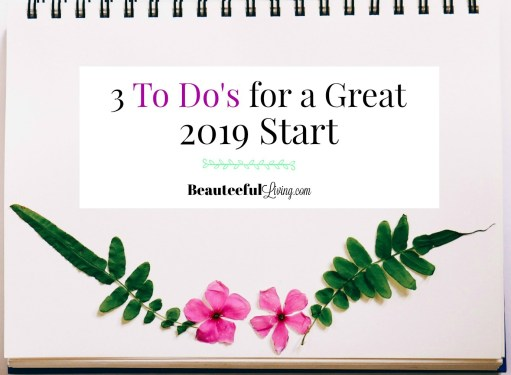 3 To Do's for Great 2019 Start