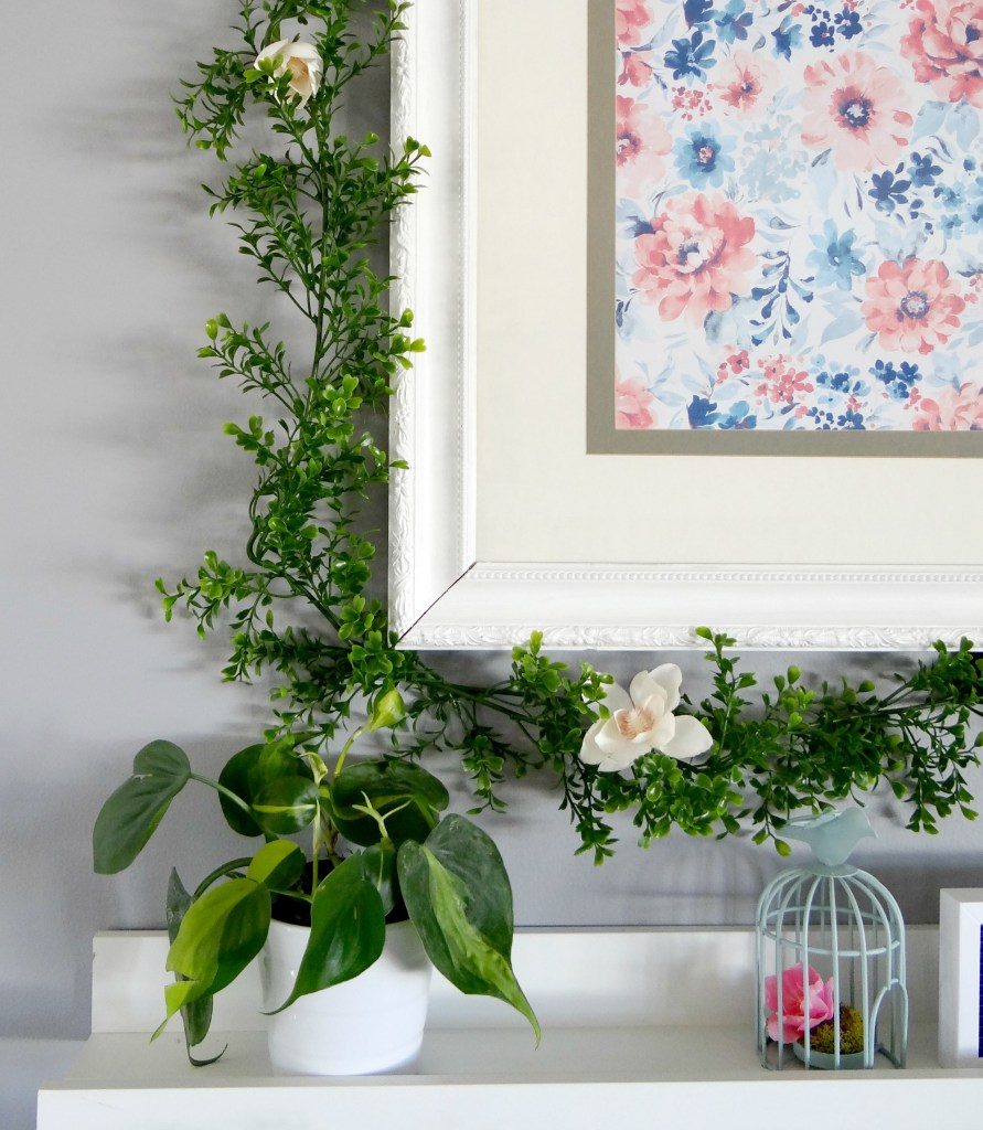 Spring Mantel Greenery - Beauteeful Living