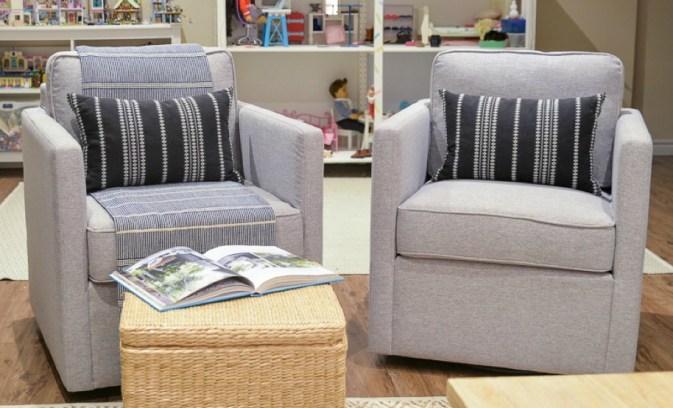 HomePop Swivel Accent Chair Set