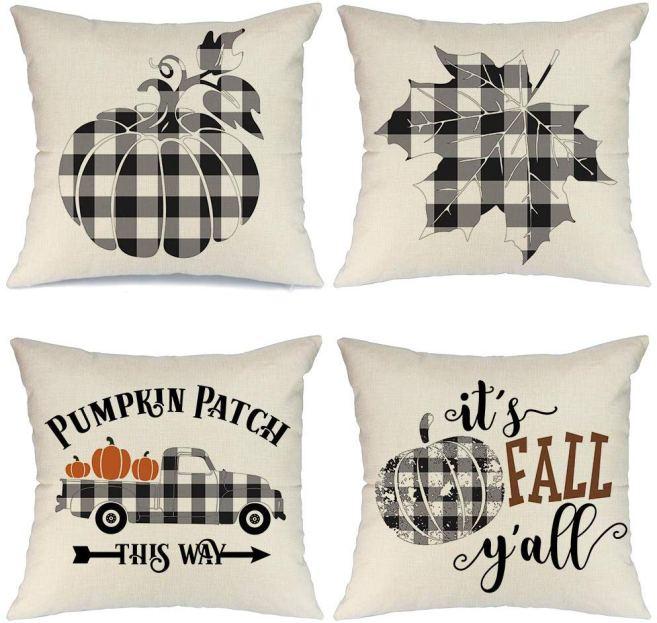 Buffalo Check Fall Pillows