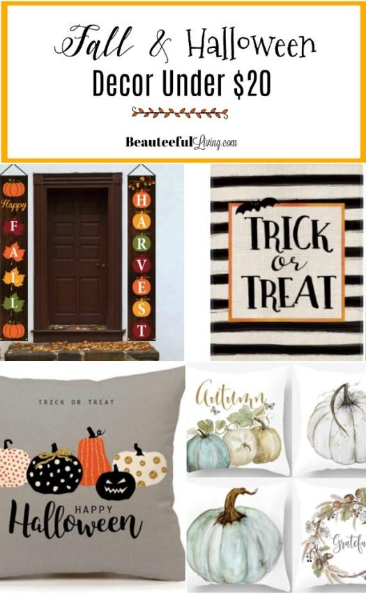 Fall and Halloween Decor Under 20 Dollars - Beauteeful Living