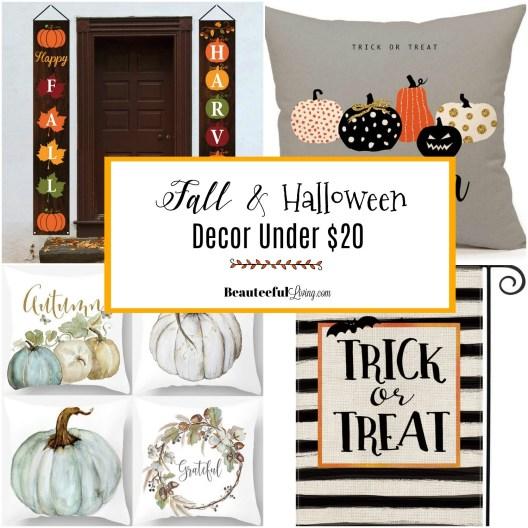 Fall and Halloween Decor Under 20 Dollars