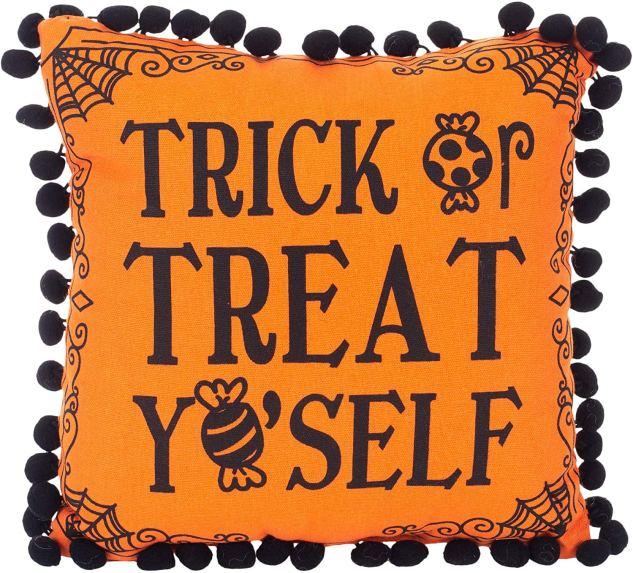 Trick or Treat Yoself Throw Pillow