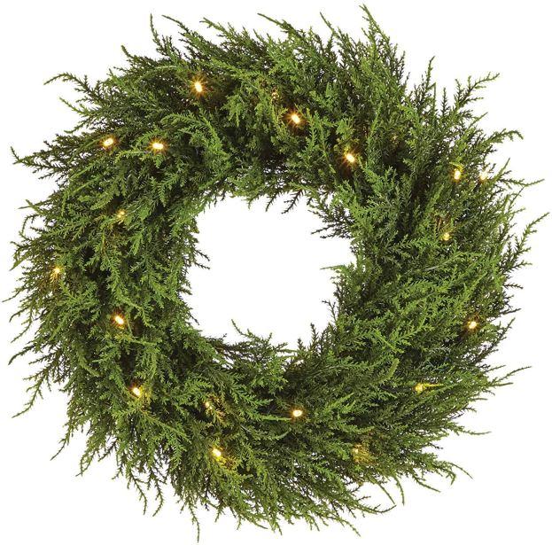 Pre-lit Ceder Christmas Wreath