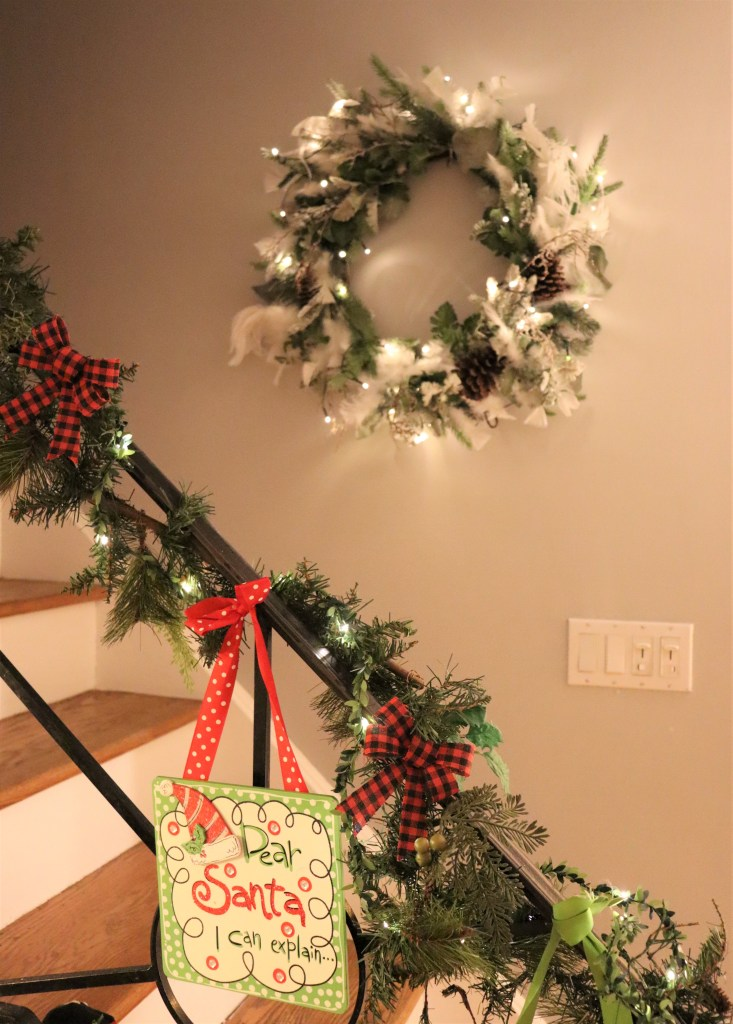 Christmas Wreath by stairs