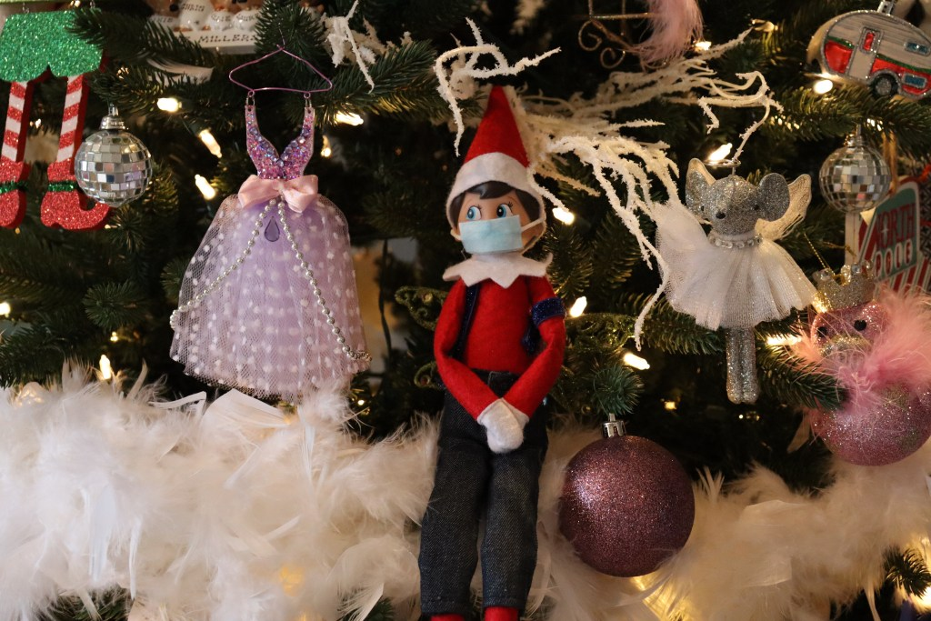 Elf on Shelf with facemask