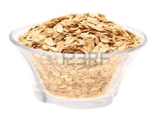 13968436-rolled-oats-in-a-glass-bowl-top-view-on-a-white-background