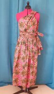 Robe Infinity wax 100% coton motif fleurs sur fond rose-17