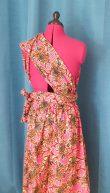 Robe Infinity wax 100% coton motif fleurs sur fond rose-20