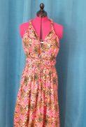 Robe Infinity wax 100% coton motif fleurs sur fond rose-26