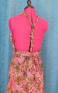 Robe Infinity wax 100% coton motif fleurs sur fond rose-30