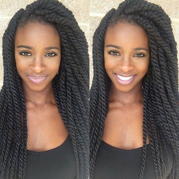 51 Kinky Twist Braids Hairstyles With Pictures Beautified Designs