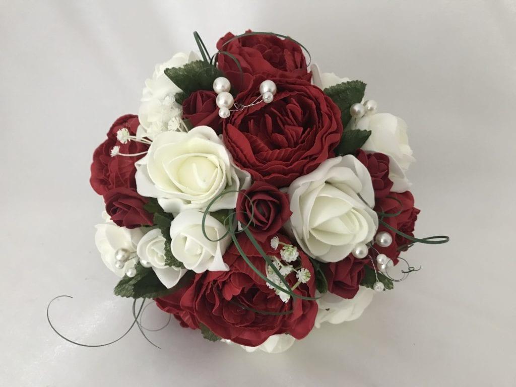 Artificial Medium Bridesmaid Bouquet Posy Peonies