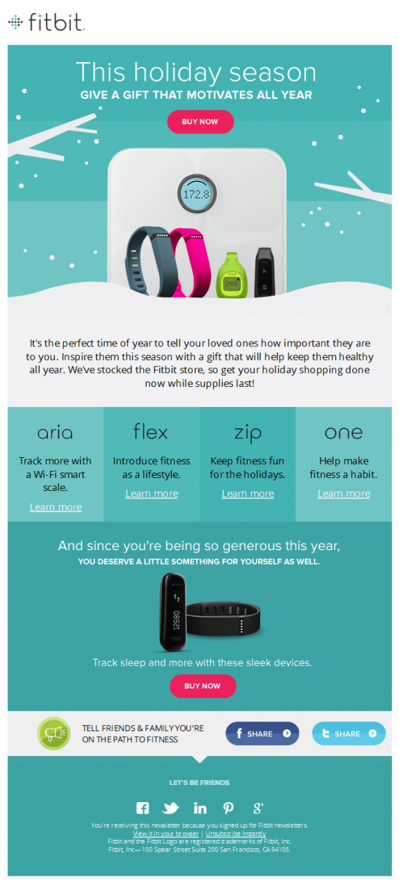 Fitbit Newsletter Beautiful Email Newsletters
