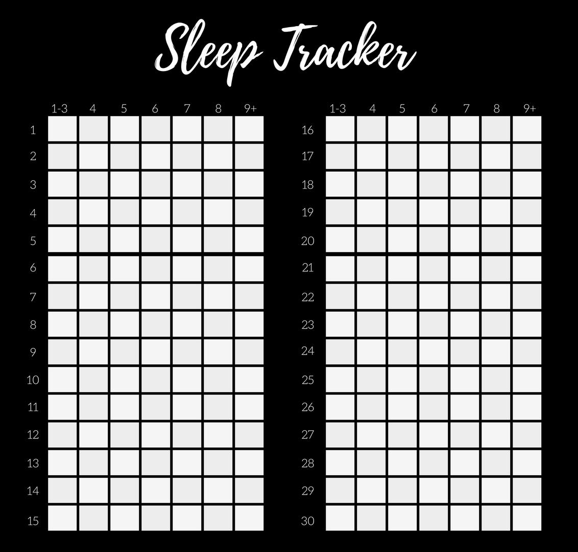 Sleep Tracker Bullet Journal Free Printable