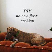 DIY: Urban Outfitters Inspired Floor Cushion! (No Sewing Machine)