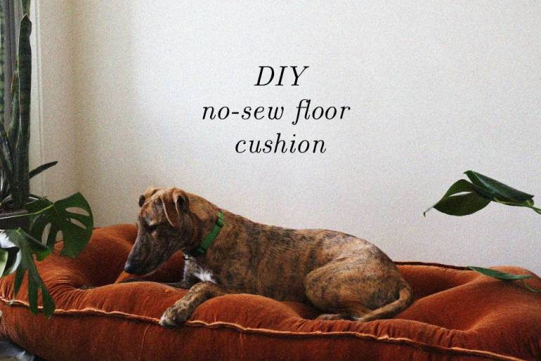 DIY velvet dog bed
