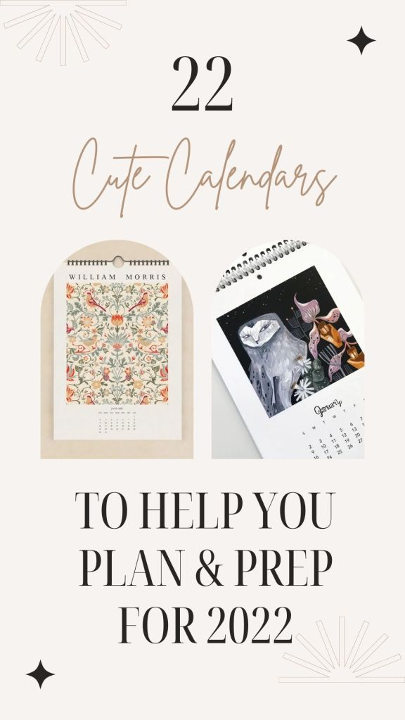 22 Wall Calendars For 2022 (from etsy / small businesses)