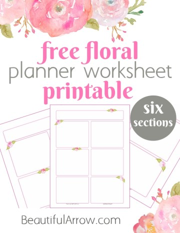 Free Floral Planning Worksheet Printable - Six Sections