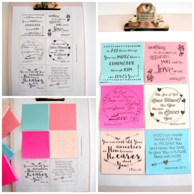 Free Sticky Note Printable - God Loves YOU Quotes