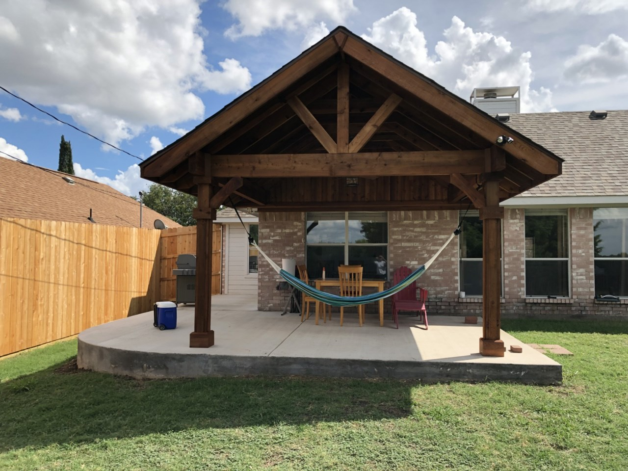 outdoor living rustic patio cover in
