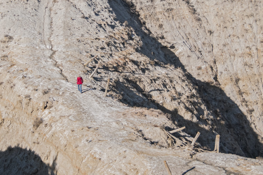 Erosion wears away the hillside.