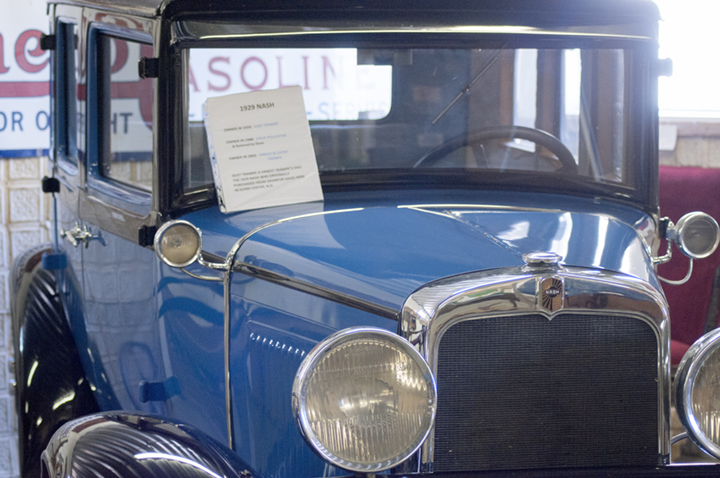 A 1929 Nash on display at the Dunn County Museum
