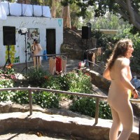 Nudist colony recreated in Balboa Park's Zoro Garden!