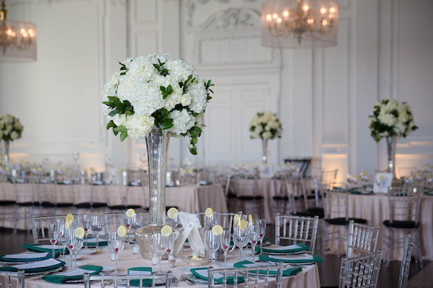 Wedding Wednesday Emerald White and Silver  Beautiful Blooms