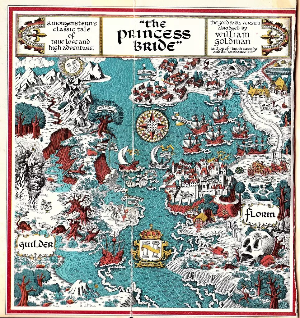 The Princess Bride Map | visit beautifulbooks.info for more...