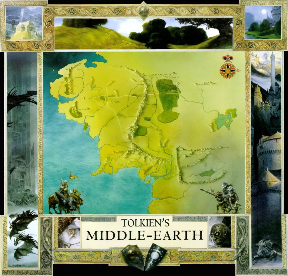 maps of middle earth