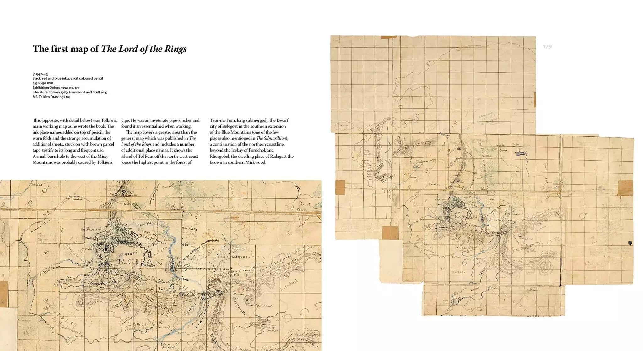 tolkien maker of middle earth map