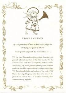CVS White Rabbit Proclamation