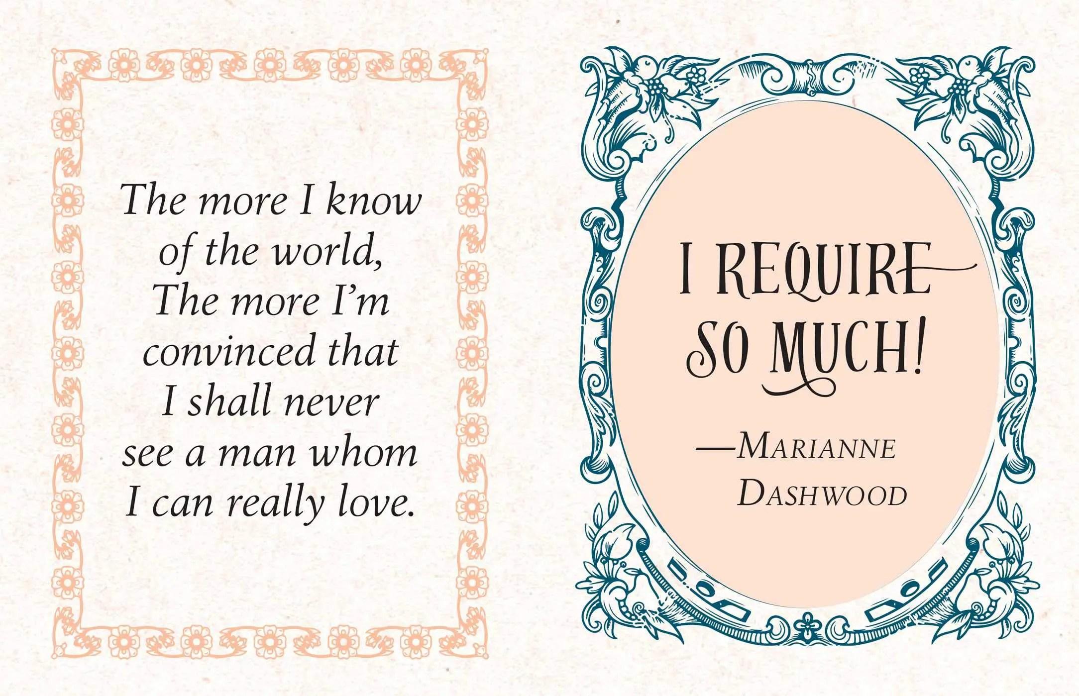 Tiny Jane Austen quote