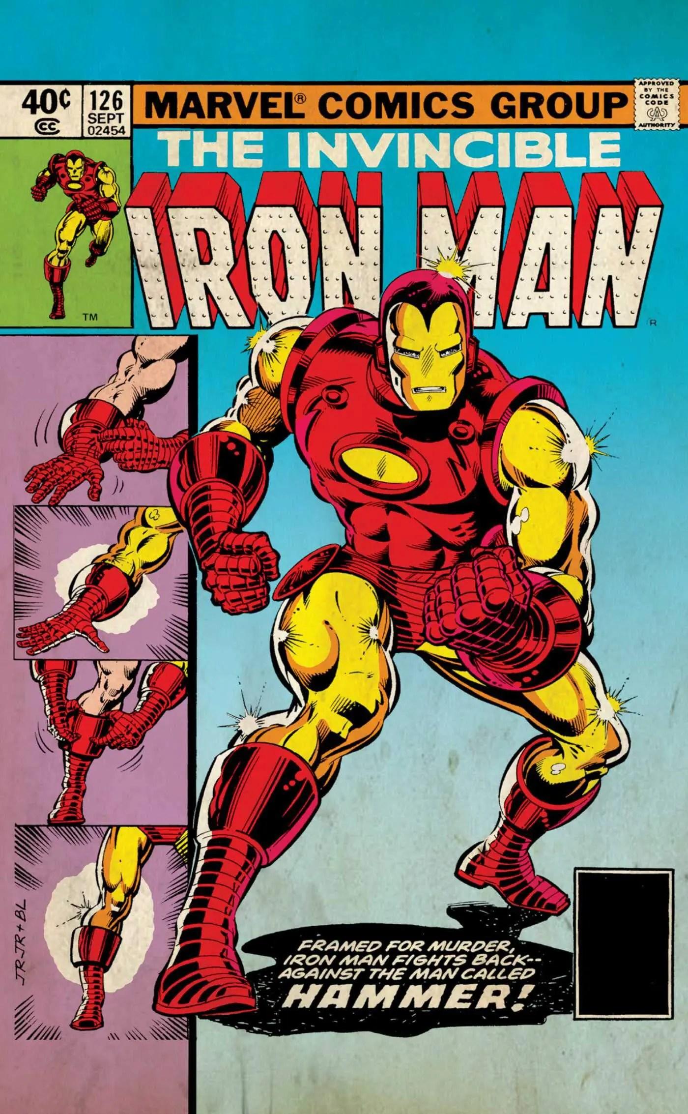 marvel comics postcards iron man
