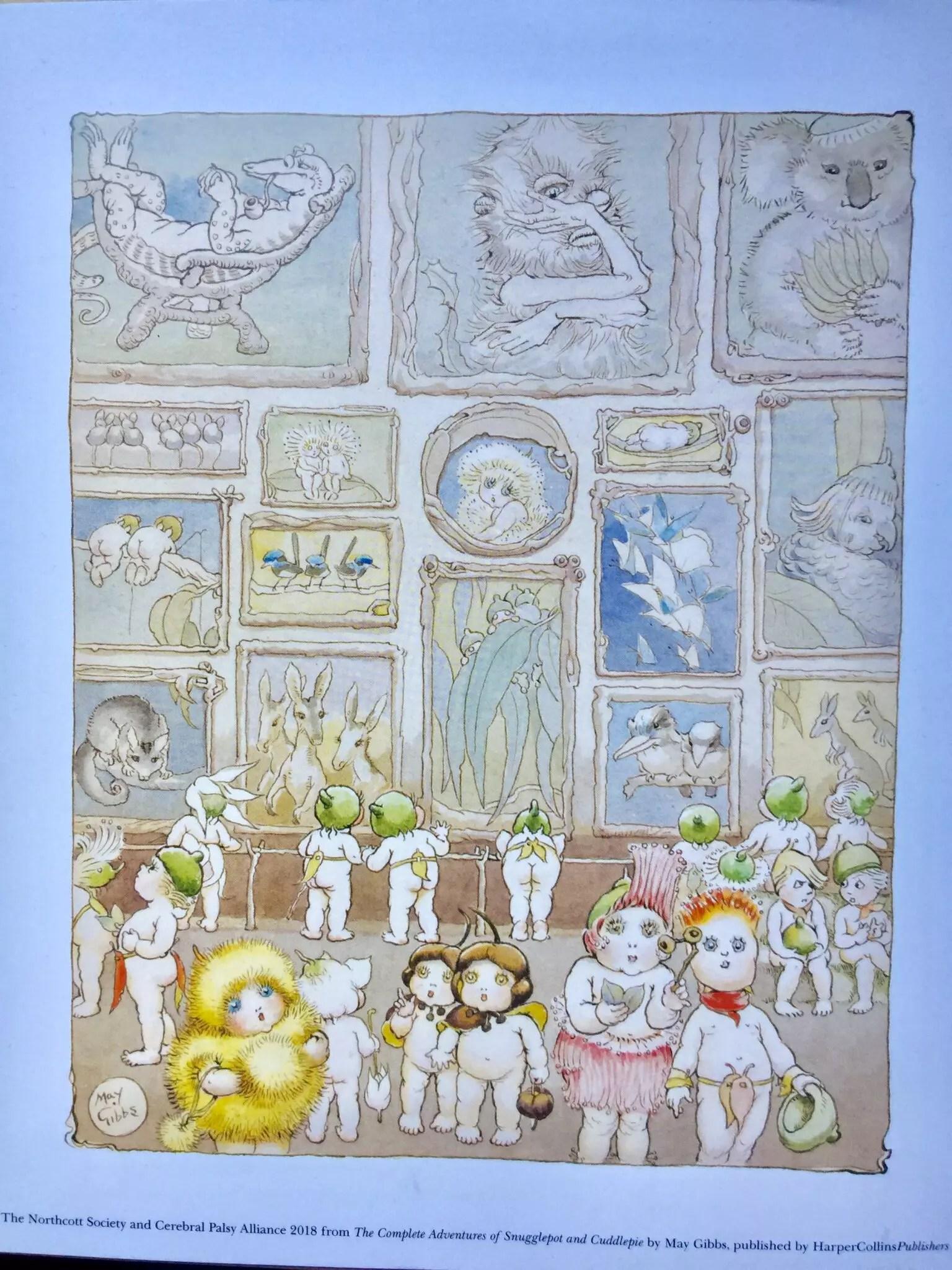 May Gibbs Snugglepot Cuddlepie Art Gallery Print