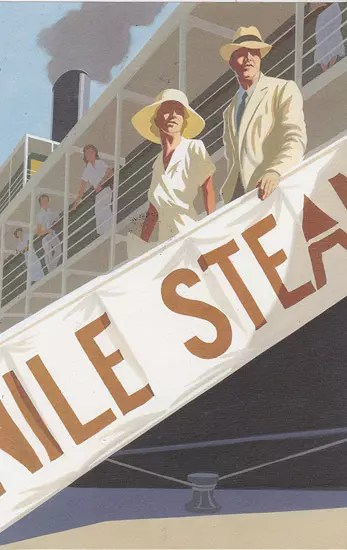 agatha christie FS andrew davidson death on the nile disembarking
