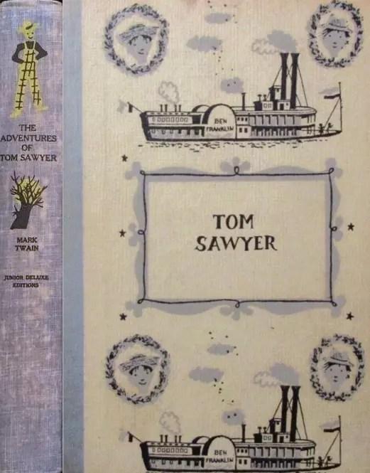 JDE Adventures of Tom Sawyer FULL blue cloth cover