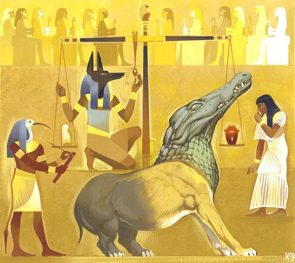 Angus McBride Beasts Amemit illus