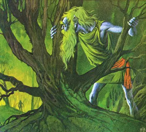 Angus McBride Beasts Leshy illus