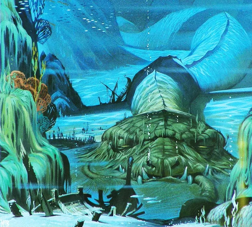 Angus McBride Beasts Midgard Serpent illus