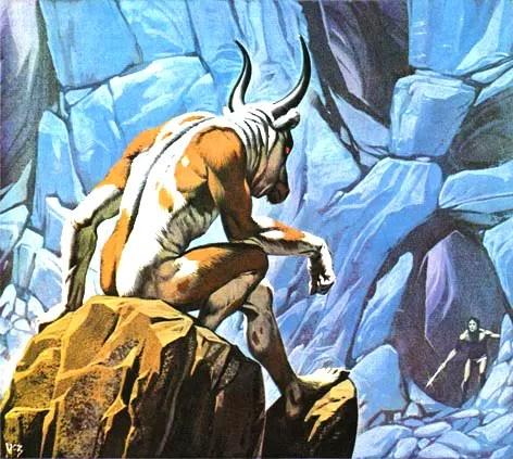 Angus McBride Beasts Minotaur illus