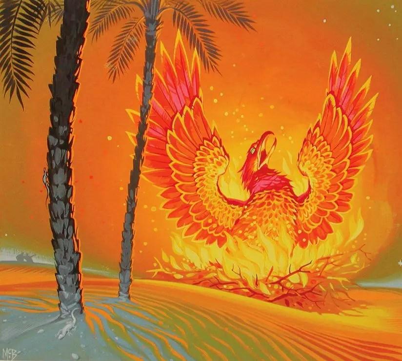 Angus McBride Beasts Phoenix illus
