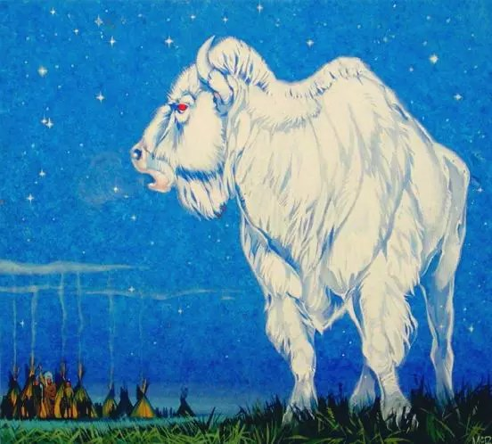 Angus McBride Beasts White Buffalo illus