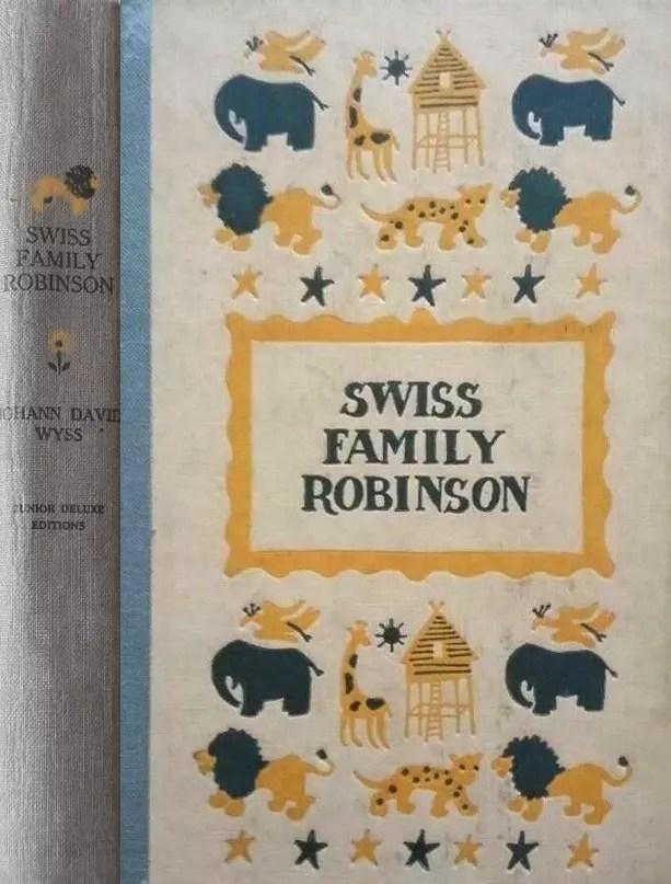 JDE Swiss Family Robinson FULL old blue cover