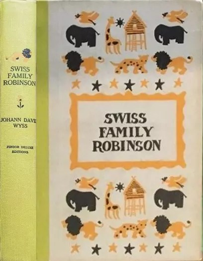JDE Swiss Family Robinson FULL old yellow cover