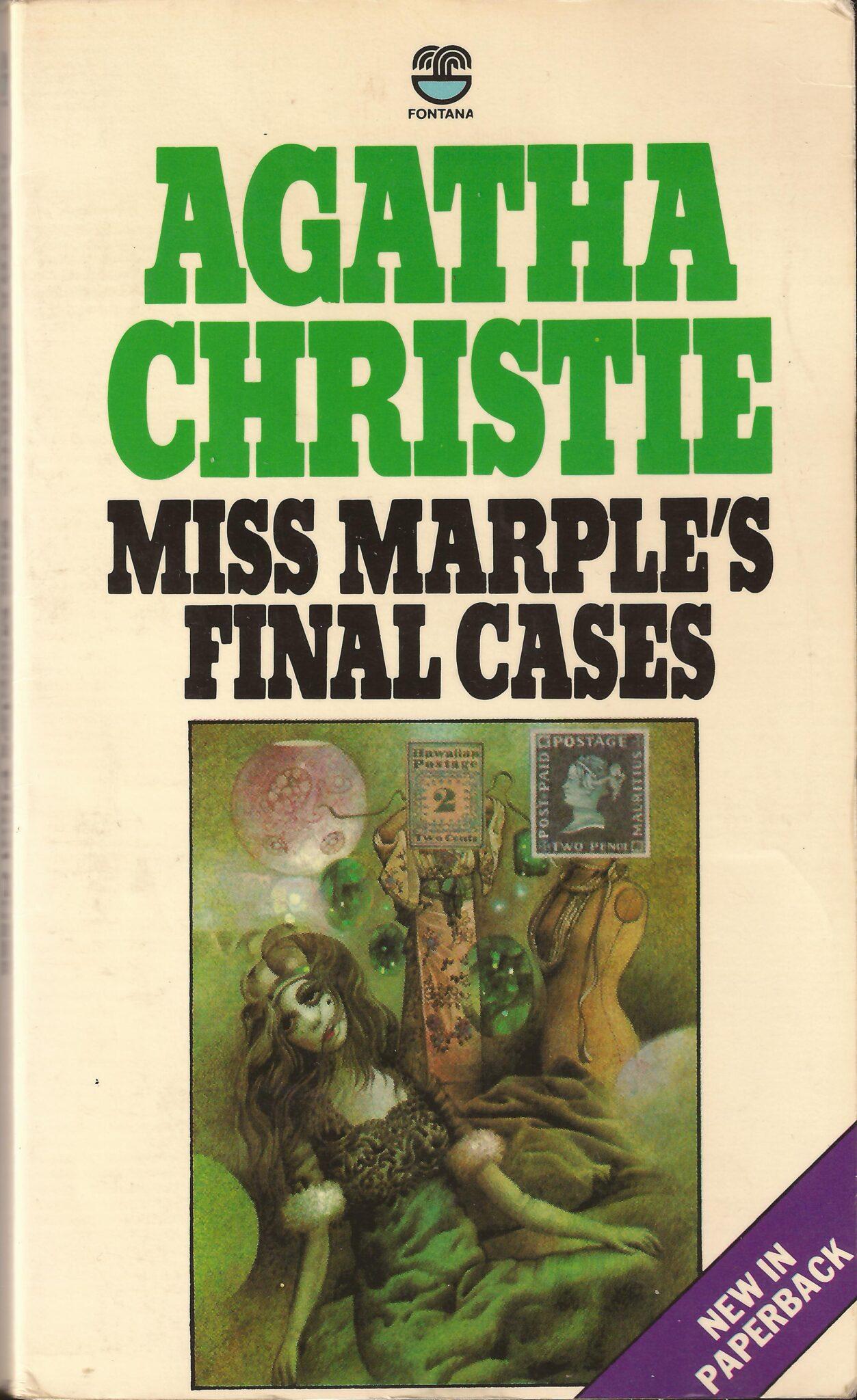 Agatha Christie Tom Adams Miss Marples Final Cases Fontana continental edn 1980