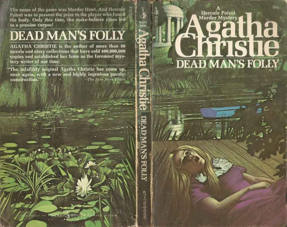 Agatha Christie Tom Adams Dead Mans Folly Pocket Books